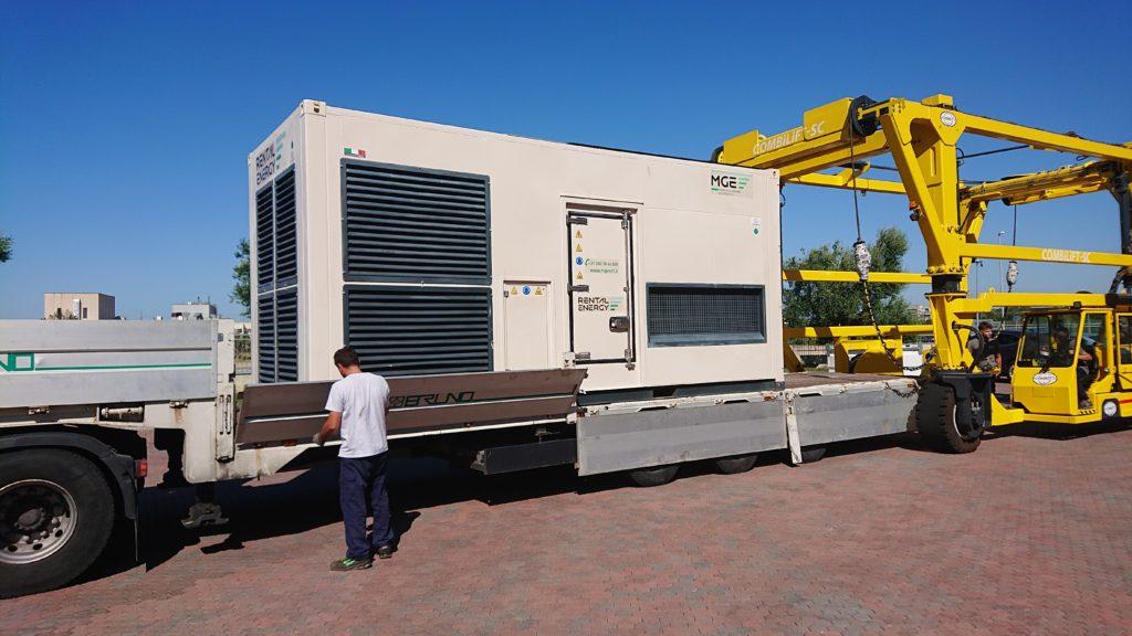 Trasporto gruppo elettrogeno MGE Fusteq 1000 kVA